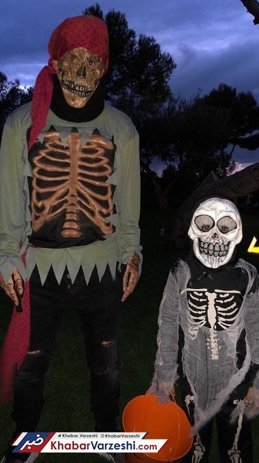 عکس  مسی در شب هالووین