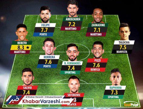 عکس|دروازهبان لژیونر ایرانی در تیم منتخب هفته لیگ پرتغال