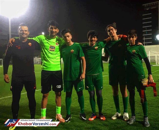 عکس  عکس انداختن بازیکنان رم با بیرانوند