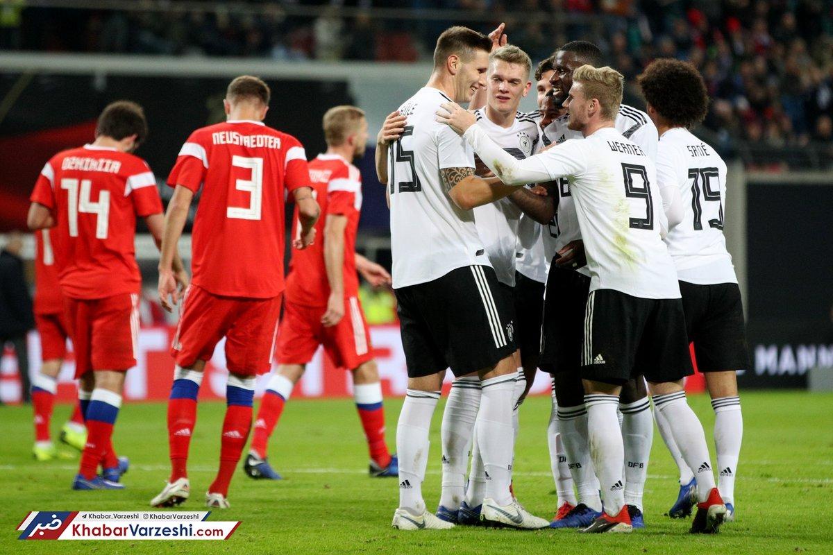 دیدار دوستانه؛ آلمان 3 - روسیه صفر مانشافت طلسم نبردن را شکست