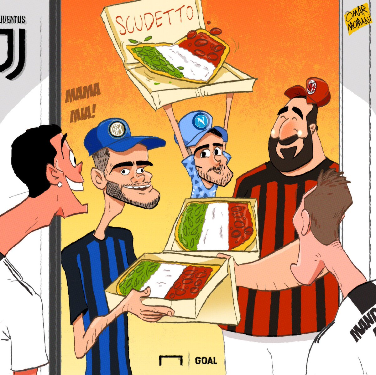 کارتون  پیتزا اسکودتو برای یووه