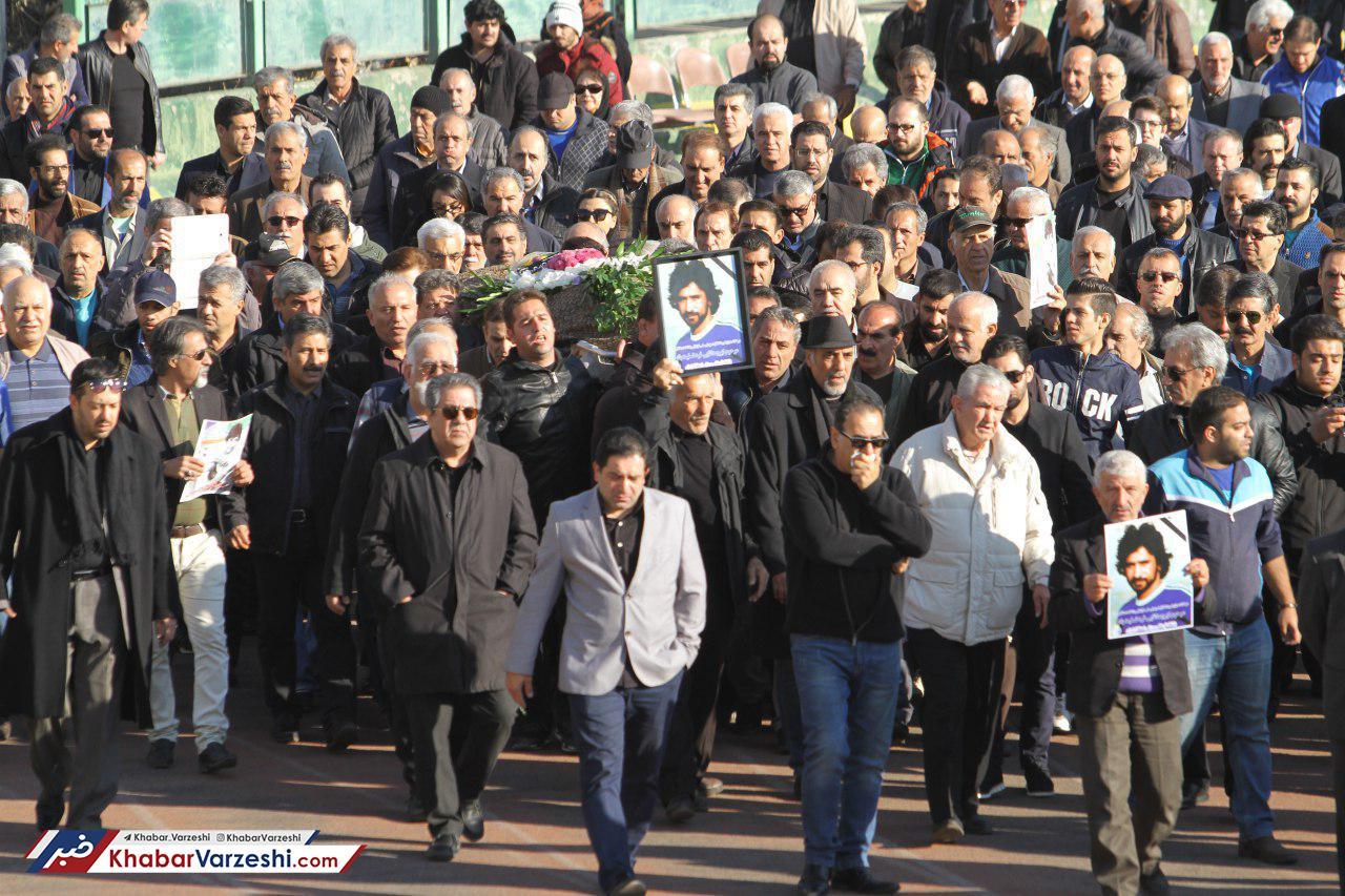 گزارش تصویری| آخرین وداع فوتبالی ها با ایرج دانای فر در امجدیه