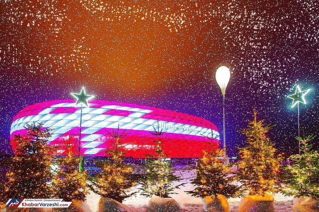 عکس روز| ورزشگاه کریسمسی مونیخ
