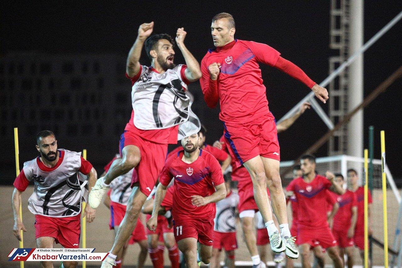 گزارش تصویری  تمرین شاداب پرسپولیسیها پیش از تقابل با الاهلی عربستان