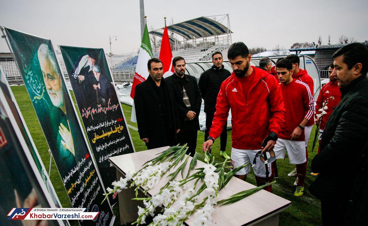 ادای احترام باشگاه تراکتور به شهید سردار سلیمانی