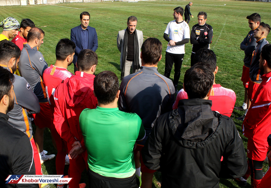 گزارش تصویری| ریکاوری پرسپولیسی ها همراه با جشن تولد محسن ربیع خواه