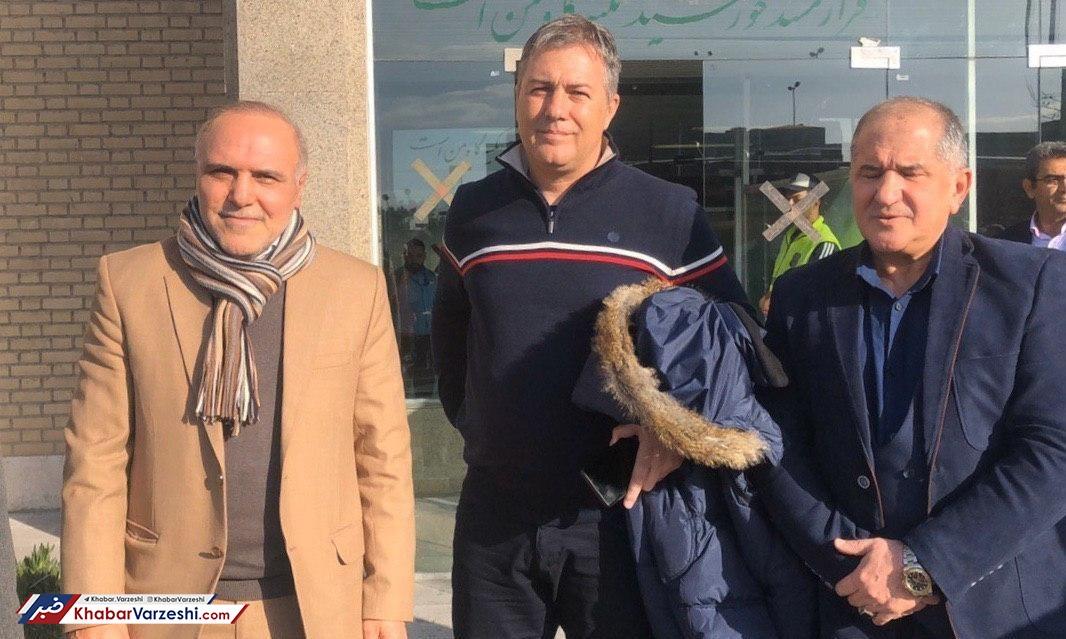 حضور اسکوچیچ و هافبک استقلال در ورزشگاه پاس قوامین