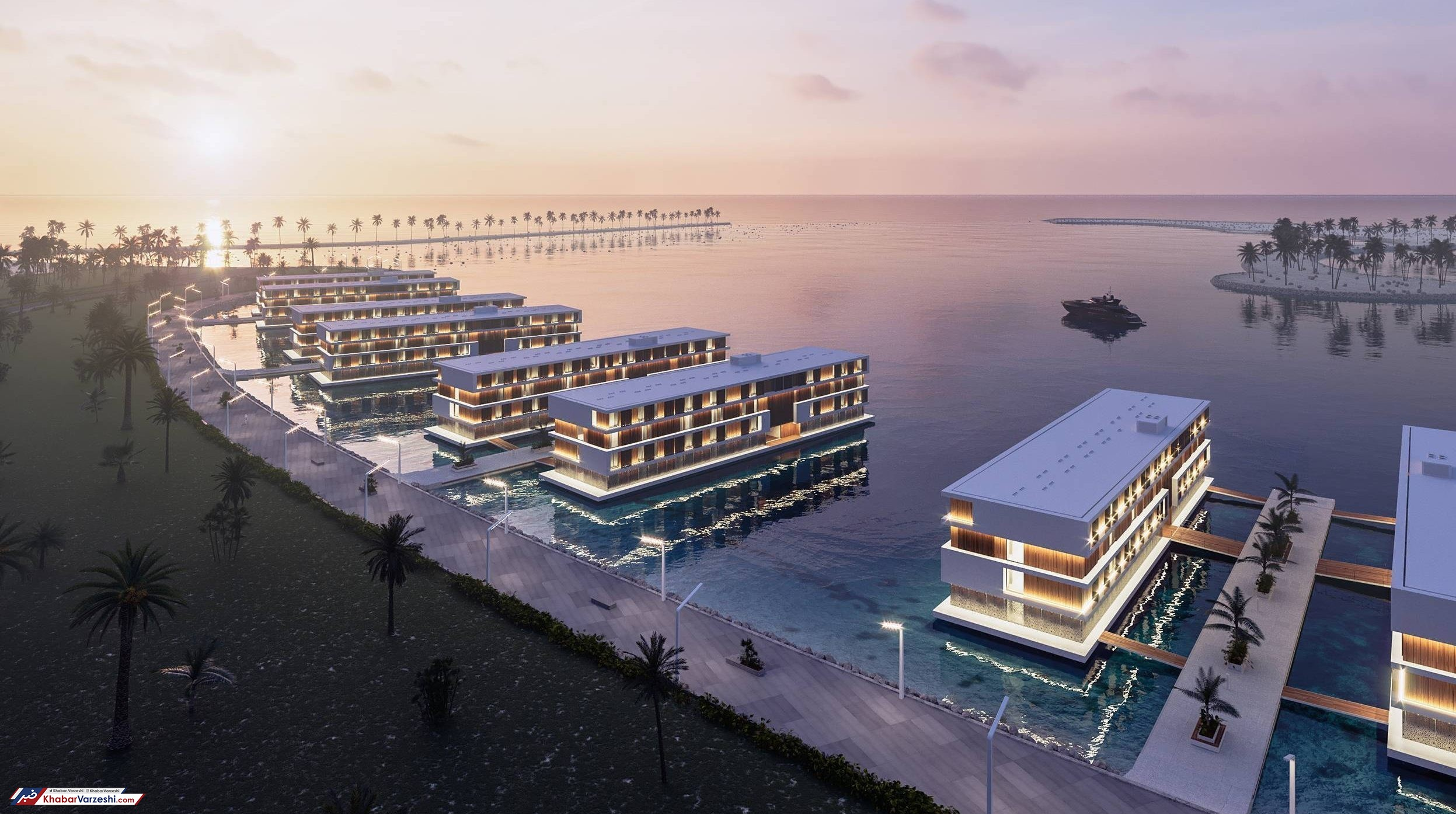 عکس| هتلهای شناور میزبان جامجهانی 2022