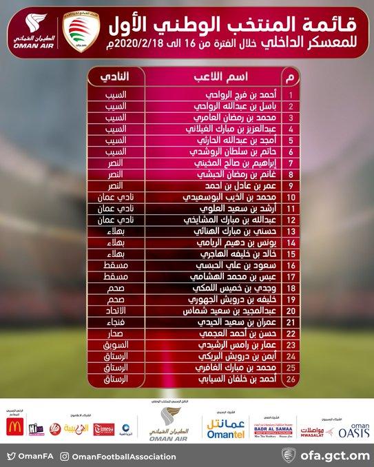 عکس| اولین لیست برانکو در تیم ملی عمان