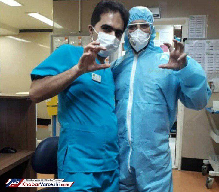 عکس| حرکت جالب پزشکان استقلالی به سبک دیاباته!