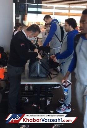 عکس| بازرسی عجیب بازیکنان ترکیه در اسراییل