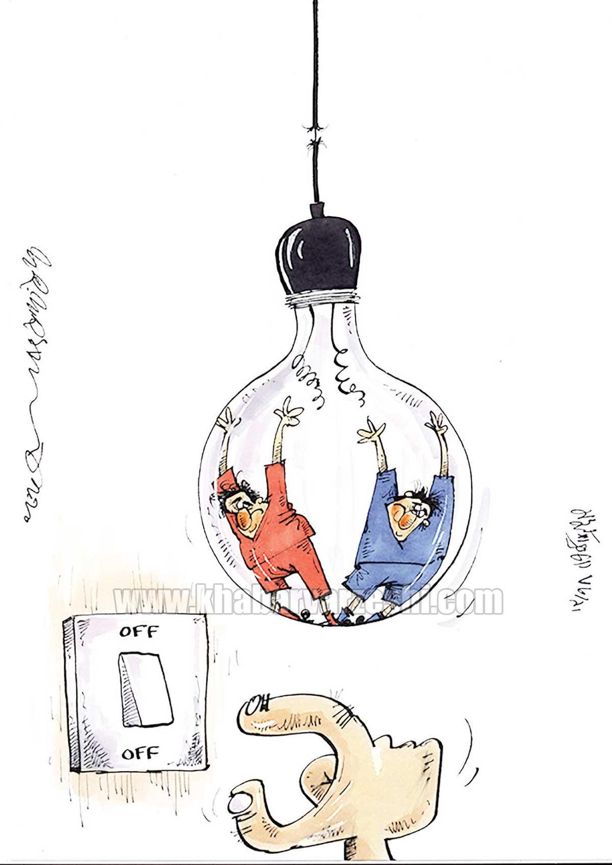 کارتون محمدرضا میرشاهولد درباره مدیریت در سرخابیها