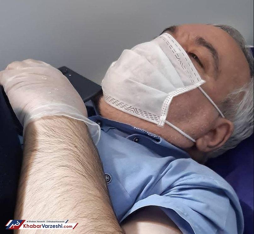 عکس| فتحاللهزاده در بیمارستان