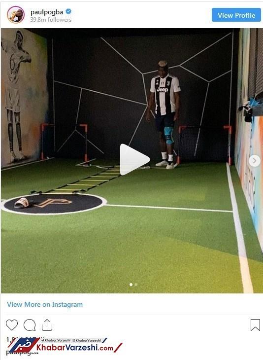 عکس| پوگبا دوباره پیراهن یوونتوس را پوشید!
