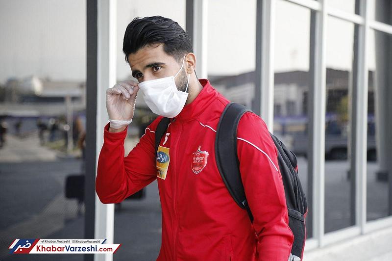 عکس| پرسپولیسیها با ماسک به سمت اصفهان