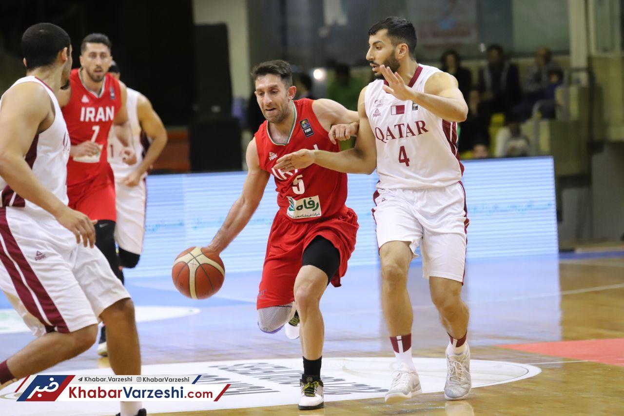 گزارش تصویری| برتری قاطع بسکتبال ایران مقابل قطر