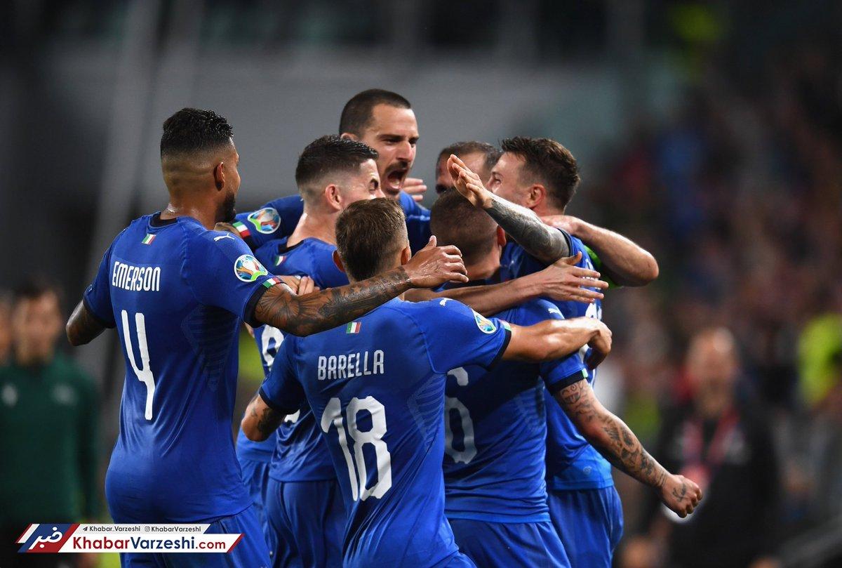 انتخابی یورو 2020 برتری ایتالیای مانچو در شب آتشبازی ژرمنها