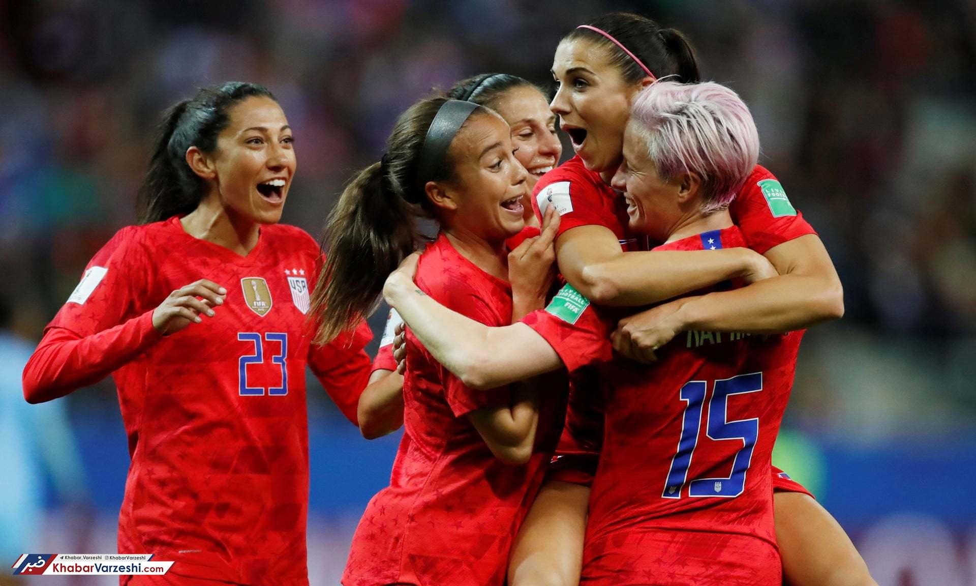 جام جهانی فوتبال زنان 2019؛ آمریکا 13 - تایلند صفر زنان تایلند فقط 13 گل از آمریکا خوردند!