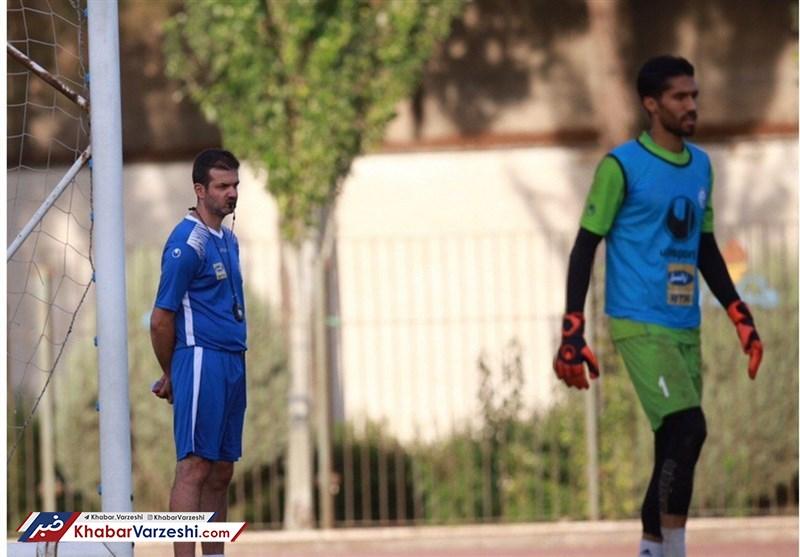 گزارش تمرین استقلال در حضور بازیکن جدید