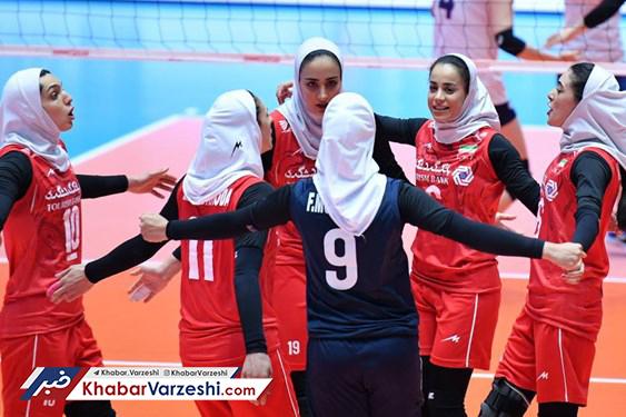 صعود زنان والیبالیست ایران به جمع ۸ تیم برتر