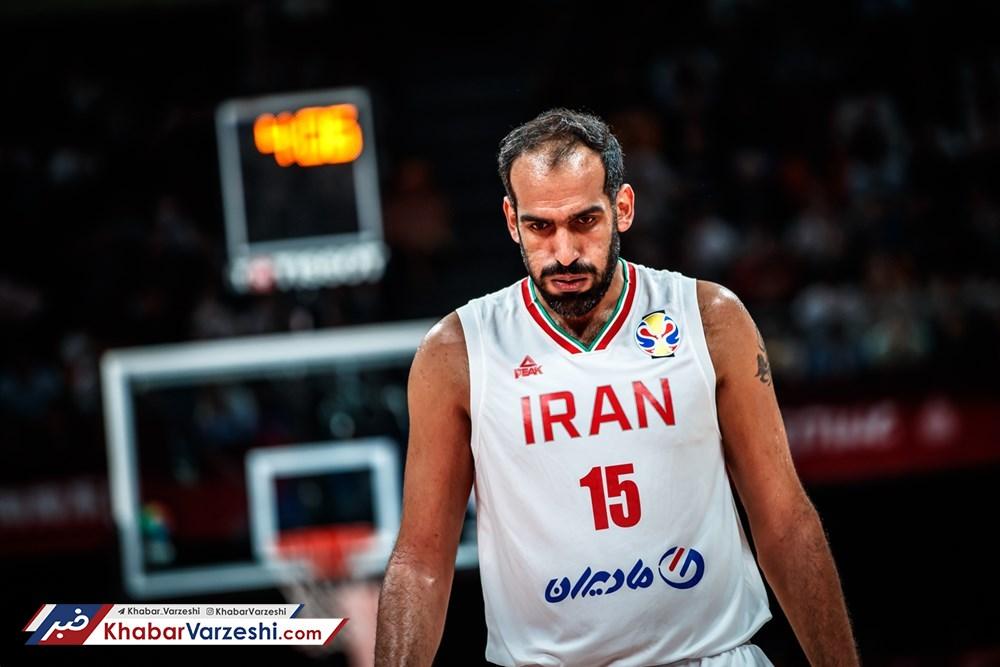 حدادی بهترین بازیکن دیدار ایران با فیلیپین
