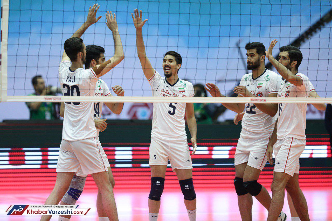 والیبال ایران با برتری برابر سریلانکا در راه فتح آسیا