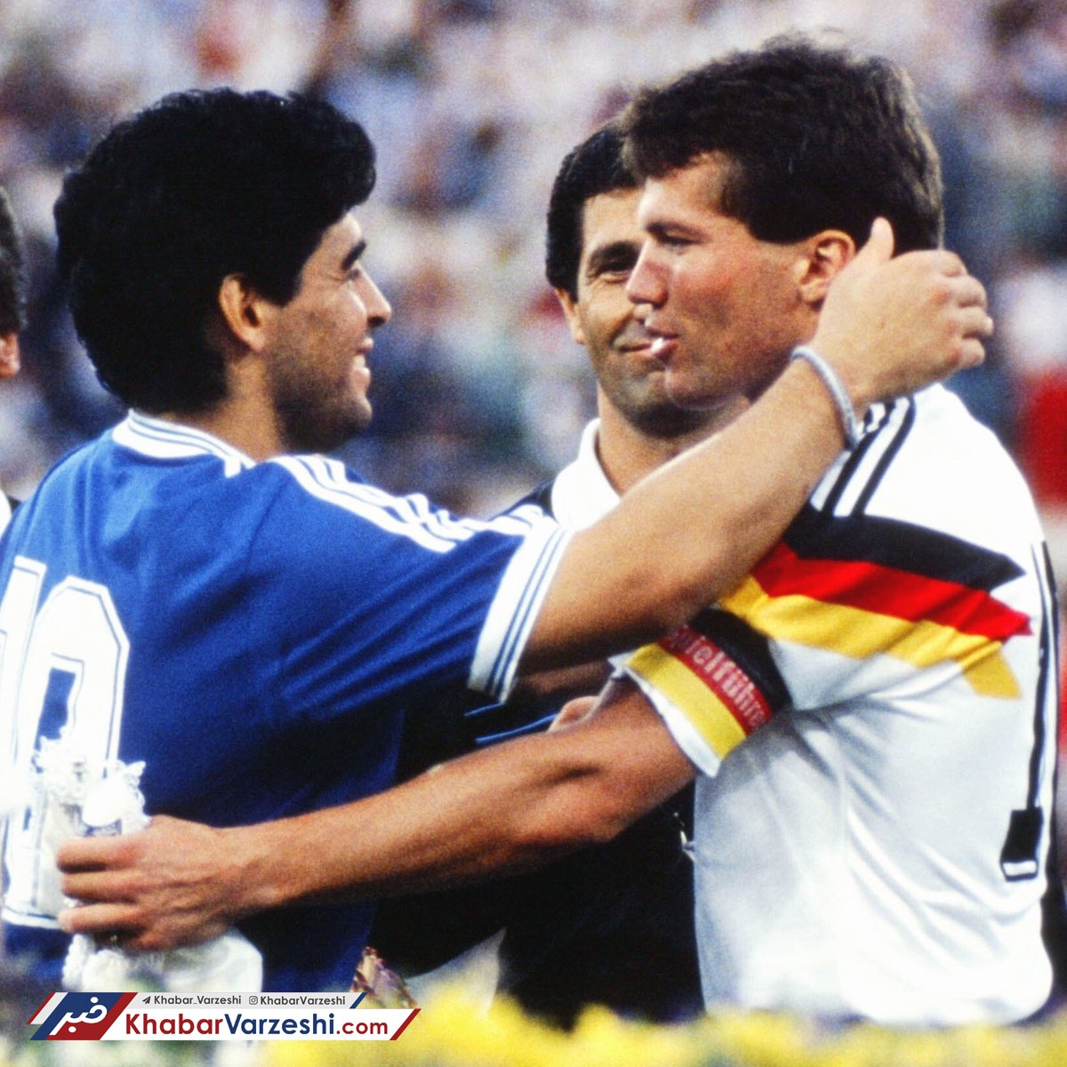 لوتار ماتئوس و دیگو مارادونا در فینال جام جهانی 1990