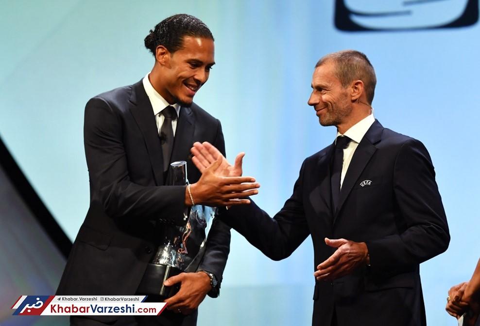 فاندایک بهترین بازیکن فصل اروپا؛ اولین جایزه برای یک مدافع