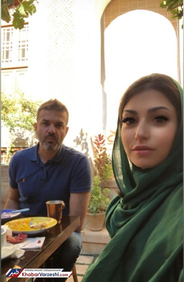 عکس| شیراز گردی استراماچونی به همراه خانواده