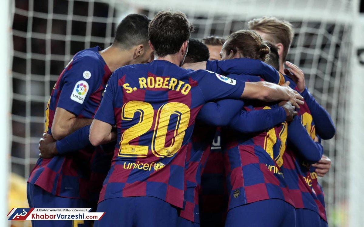 برتری قاطع بارسلونا با هتریک مسی