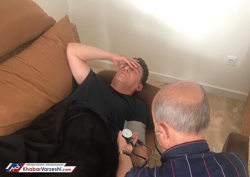 عکس| قلعه نویی در بیمارستان بستری شد