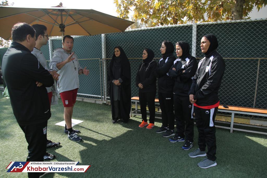 حضور سرمربی تیم ملی زنان در تمرین شاگردان ویلموتس