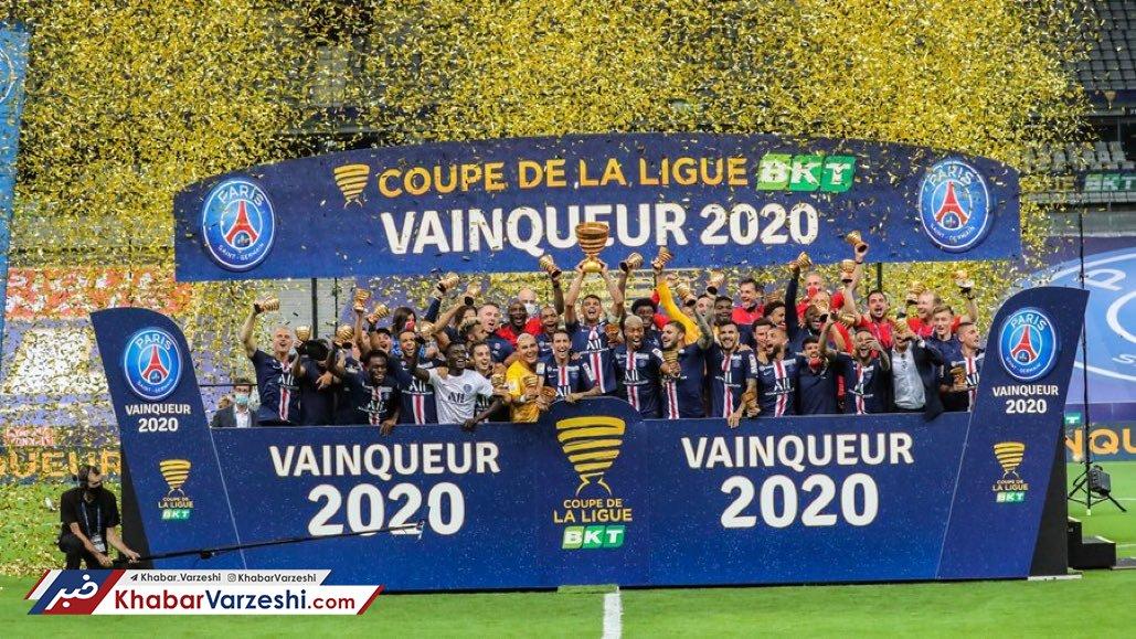 سه گانه پاریسیها در فرانسه با قهرمانی در جام اتحادیه
