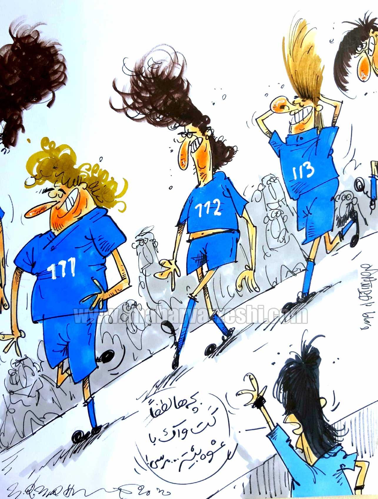 کارتون محمدرضا میرشاهولد درباره قرارداد پوشاک تیم استقلال