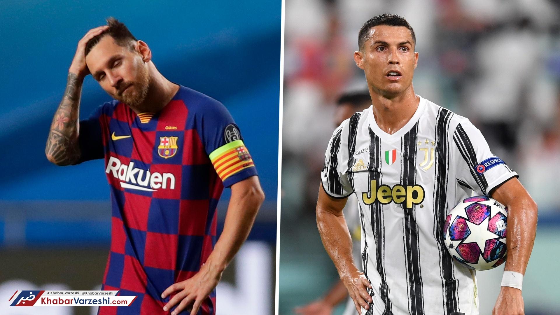 رونالدو و مسی، پردرآمدترین فوتبالیستهای دنیا