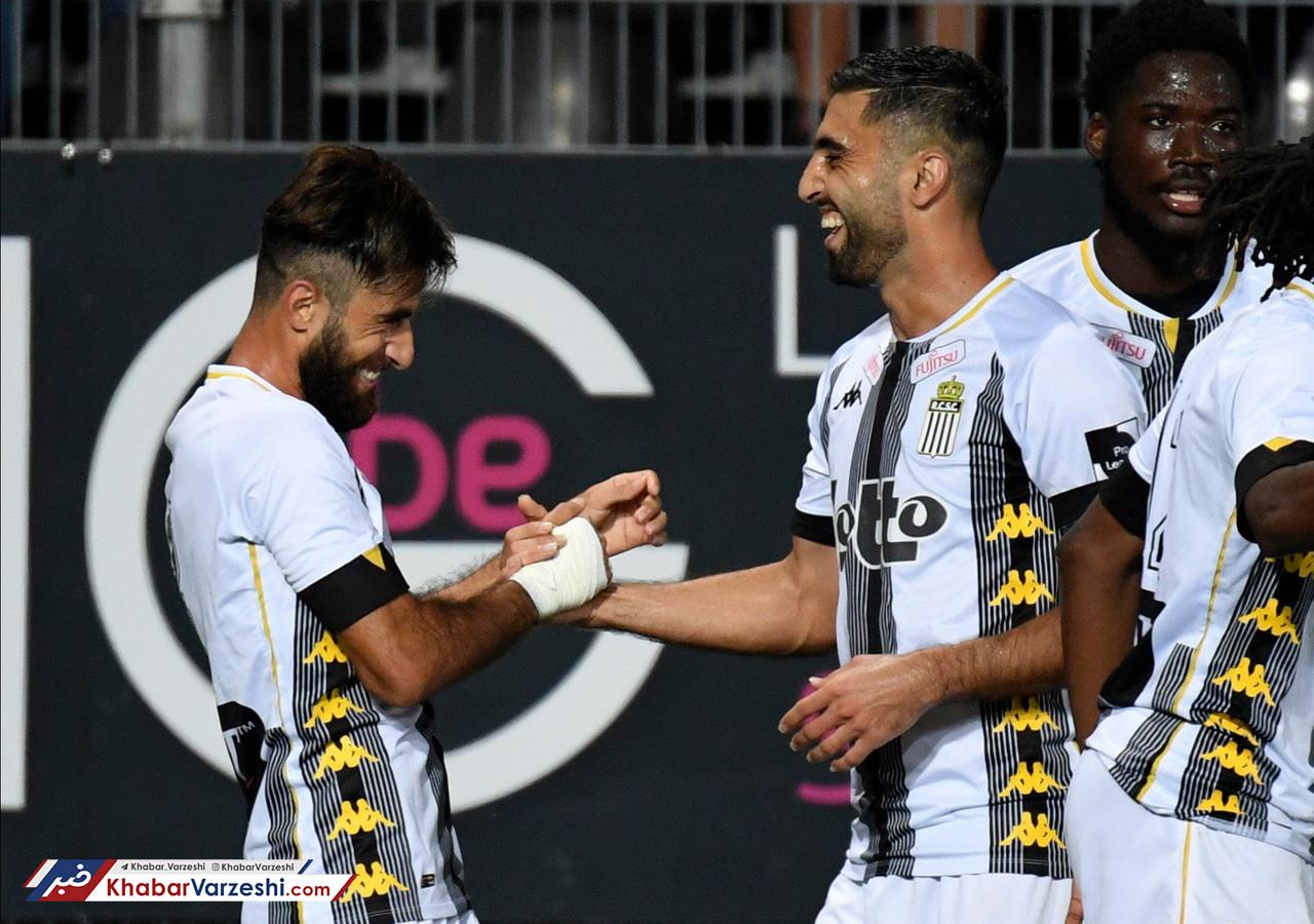 گزارش تصویری پیروزی شارلروا با درخشش کاوه رضایی و علی قلی زاده