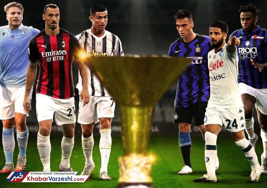 بزرگان سری A ایتالیا در فصل 2021-2020؛ اسکودتوی شاگرد و استاد