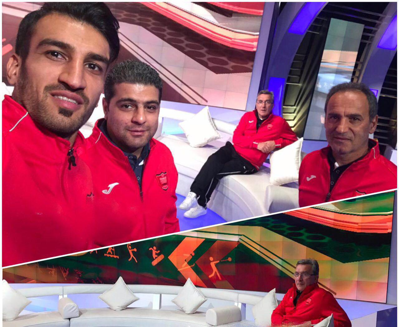 عکس  برانکو و ماهینی در برنامه تلویزیون عمان