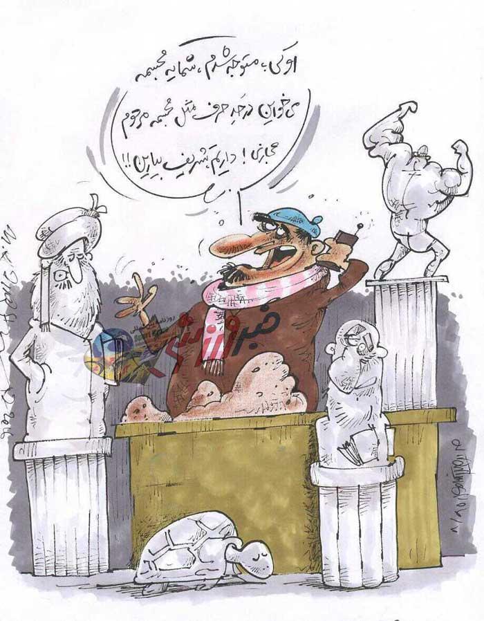 کاریکاتور  مجسمه منصور پورحیدری به سفارش باشگاه استقلال ساخته میشود!