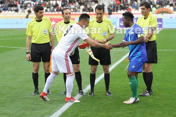 عکس| اولین کاپیتانی ابراهیمی در تیم ملی