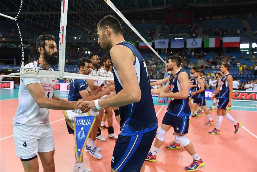 گزارش تصویری  ایتالیا - ایران (لیگ جهانی والیبال 2017)