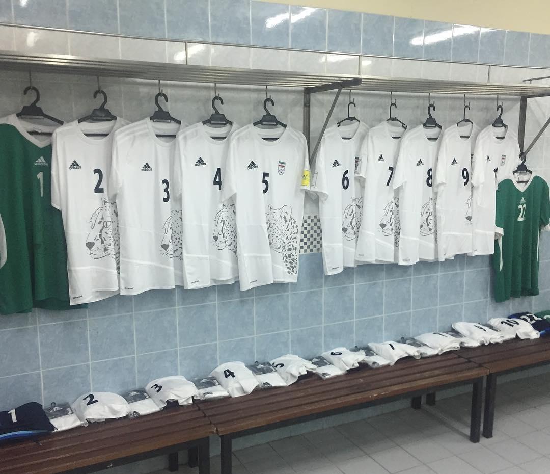 رختکن تیم ملی پیش از دیدار مقابل سوریه
