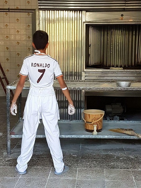 عکس| فیگور رونالدویی شاگرد نانوا