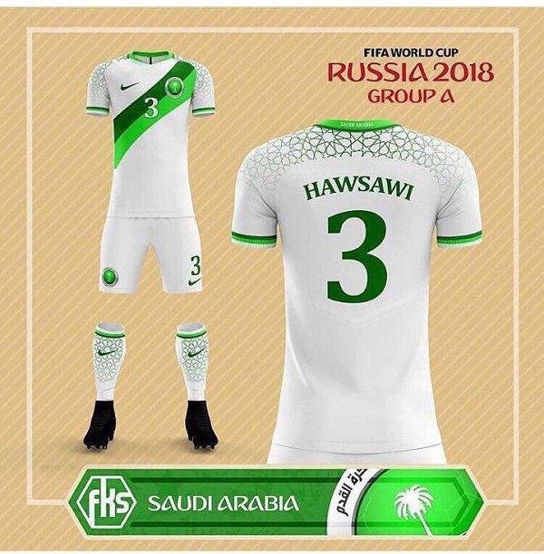 عکس| لباس تیم ملی عربستان به سبک آرژانتینی