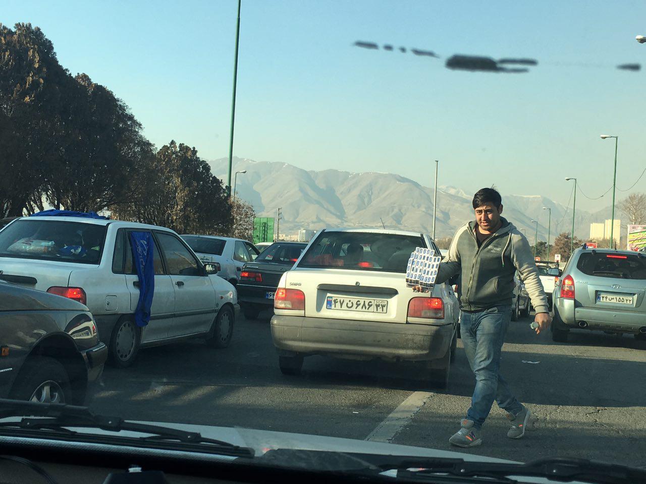 ترافیک شدید در اطراف ورزشگاه آزادی