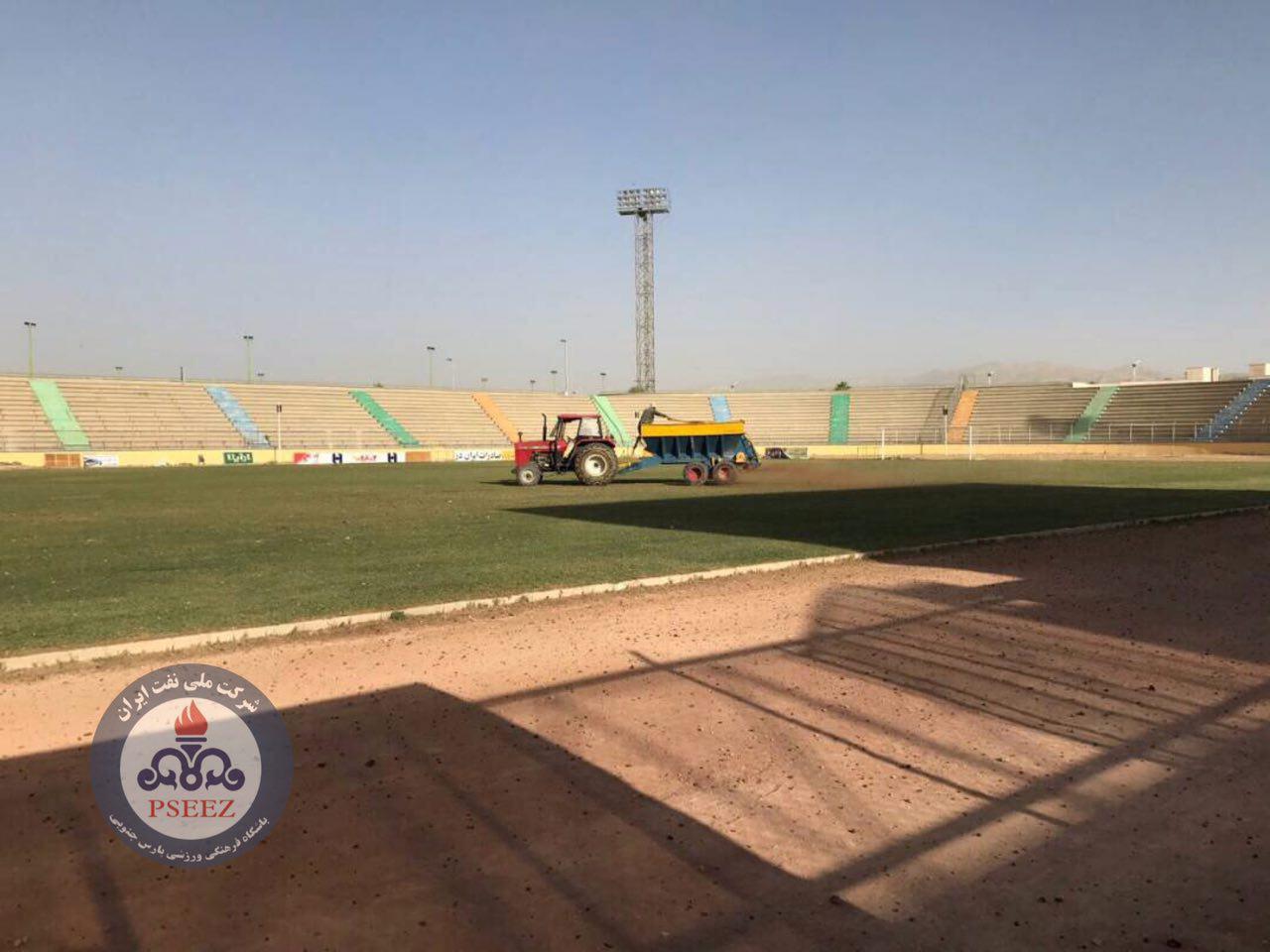 تصاویر / روند آمادهسازی استادیوم تختی جم