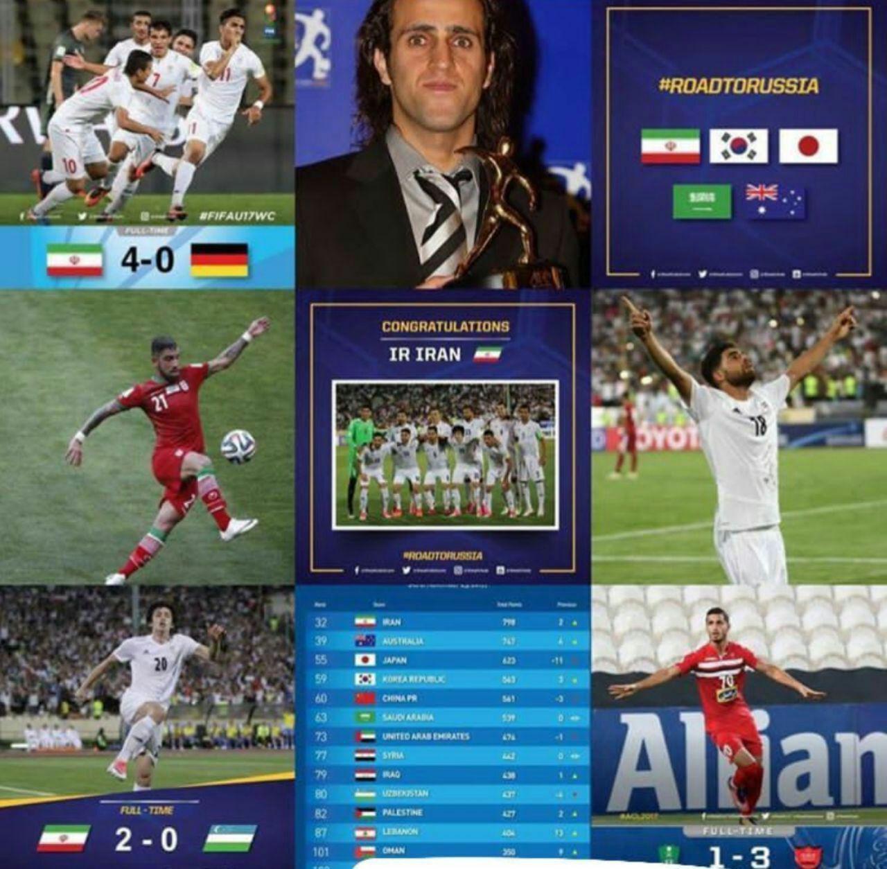 هر ۹ پست پربازدید AFC متعلق به ایرانی ها بود
