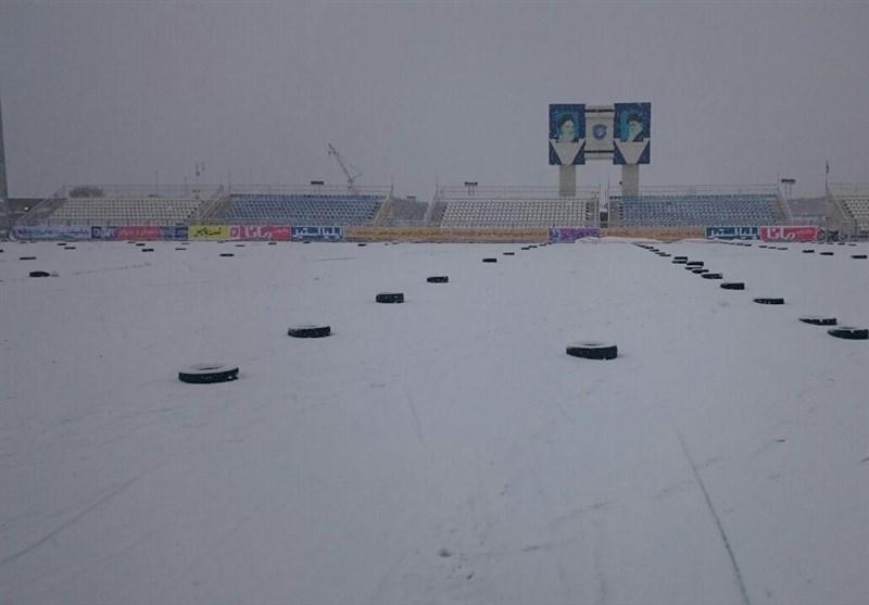لغو یکی دیگر از دیدارهای لیگ برتر به دلیل برف شدید