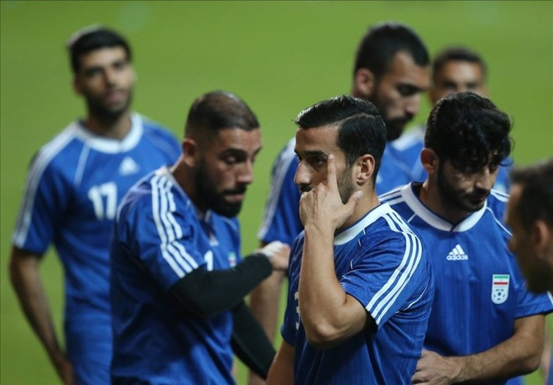شوخی جالب در تمرین امروز ایران/تیم ملی آبیته!
