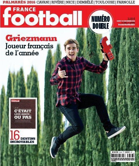گریزمن بازیکن سال فرانسه شد